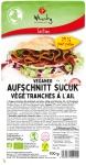 Veganwurst Sucuk Scheiben