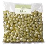 Grüne Oliven mariniert Stein