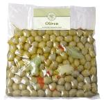 Grüne Oliven Paprika Natur