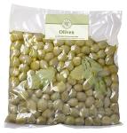 Grüne Oliven Knoblauch natur