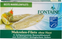 Makrelen-Filet ohne Haut