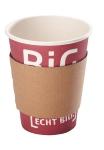 Kaffeemanschetten braun groß