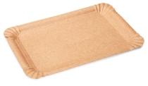 Pappteller braun klein