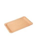 Pappteller braun 16x23cm